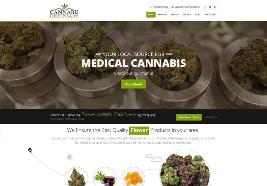 Marijuana Web Design Gallery
